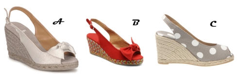 A - Modèle Bassy Silver 112,50€ B - Modèle Bassy Multicolore rouge 112,50€ C - Modèle Bel taupe 90€